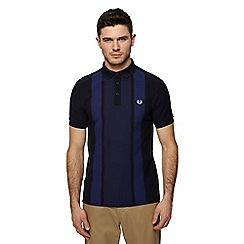 Fred Perry - Navy striped polo shirt