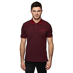 Ben Sherman - Big and tall maroon oxford tonic polo shirt