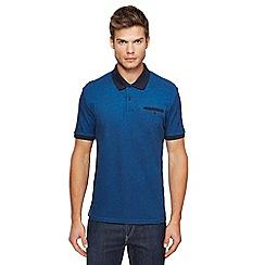 Ben Sherman - Big and tall blue oxford polo shirt