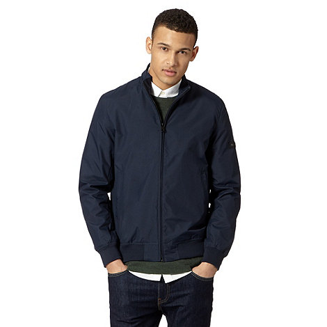 Ben Sherman - Big and tall navy funnel neck bomber jacket