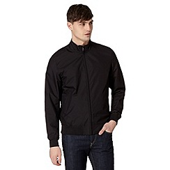 BEN SHERMAN - Big and tall black funnel neck bomber jacket