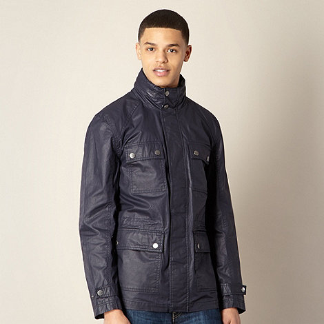 Ben Sherman - Navy coated four pocket jacket