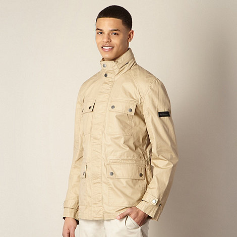 Ben Sherman - Big and tall tan coated four pocket jacket
