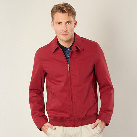Ben Sherman - Dark red shirt collar harrington jacket