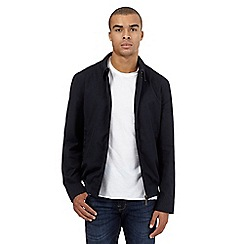 BEN SHERMAN - Big and tall navy collared harrington jacket