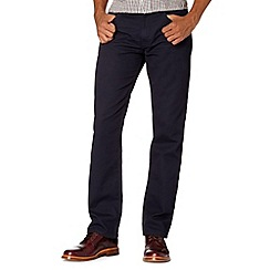 BEN SHERMAN - Navy cord straight leg trousers