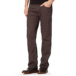 BEN SHERMAN - Grey cord straight leg trousers
