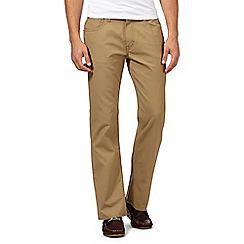 Ben Sherman - Beige five pocket fine cord trousers