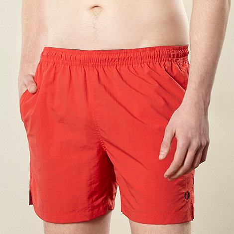 Fred Perry - Red classic swim shorts