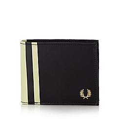 Fred Perry - Black striped billfold wallet