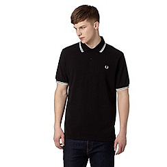 Fred Perry - Black twin tipped regular fit polo shirt