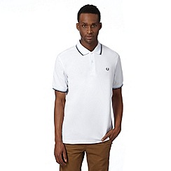 Fred Perry - White tipped pure cotton regular fit polo shirt