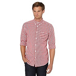 Ben Sherman - Big and tall red mixed gingham checked shirt