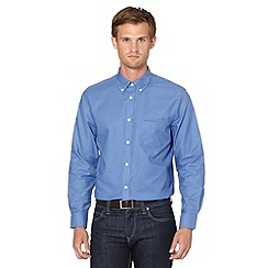 BEN SHERMAN - Blue denim oxford shirt