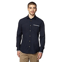 Ben Sherman - Navy gingham trim shirt