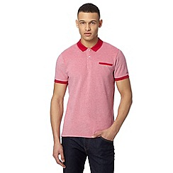 Ben Sherman - Red oxford tonic pique shirt