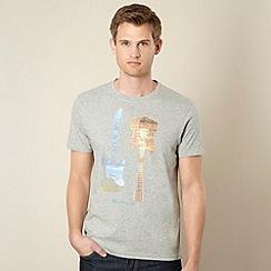 Ben Sherman - Grey guitar print t-shirt