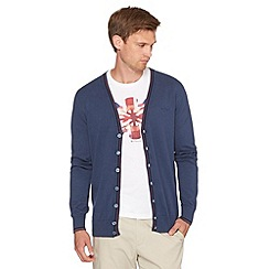 Ben Sherman - Mid blue V neck cardigan