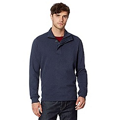 Ben Sherman - Navy zip funnel neck sweat