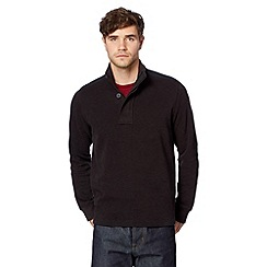 Ben Sherman - Black zip funnel neck sweat