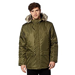 Ben Sherman - Big and tall olive military four pocket parka