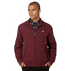 Fred Perry - Maroon zip through bomber jacket