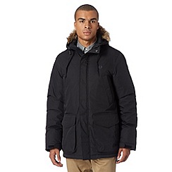 Fred Perry - Black down filled parka jacket