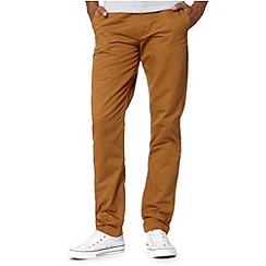 Fred Perry - Tan twill straight leg chinos