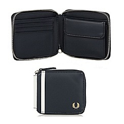 Fred Perry - Navy zip around wallet