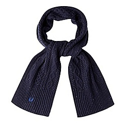 Fred Perry - Navy cable knit scarf