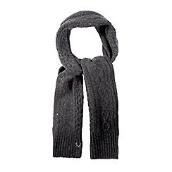 Fred Perry - Grey cable knit scarf