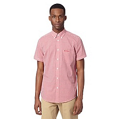 Ben Sherman - Big and tall red short sleeved gingham checked shirt