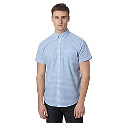 Ben Sherman - Light blue gingham checked shirt