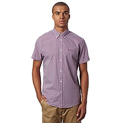 Ben Sherman - Big and tall purple gingham checked shirt