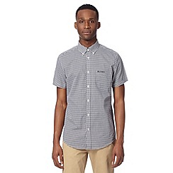 Ben Sherman - Black short sleeved gingham checked shirt