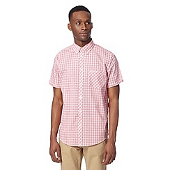 Ben Sherman - Big and tall red short sleeved checked shirt