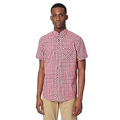 Ben Sherman - Big and tall red tonal gingham checked shirt