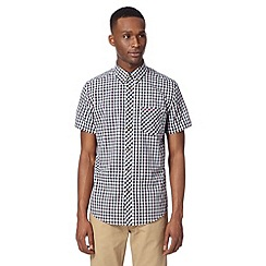 Ben Sherman - Navy tonal gingham checked shirt