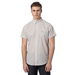 Ben Sherman - Big and tall pink checked short sleeve shirt