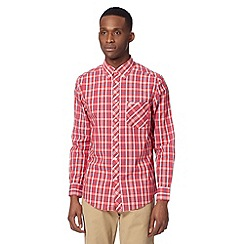 Ben Sherman - Big and tall red long sleeved button down shirt
