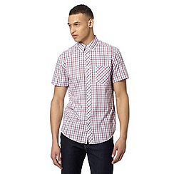 Ben Sherman - Big and tall red varied checked shirt