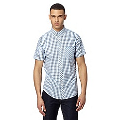 Ben Sherman - Big and tall white varied checked shirt