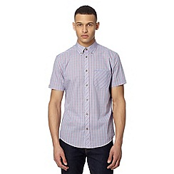 BEN SHERMAN - Light blue diagonal print shirt