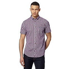 Ben Sherman - Big and tall purple diagonal print shirt