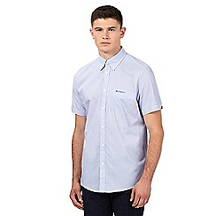 Ben Sherman - Blue fine striped short sleeved shirt