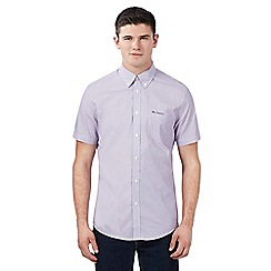 BEN SHERMAN - Purple fine striped short sleeved shirt