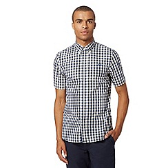 Fred Perry - Yellow gingham checked short sleeved shirt