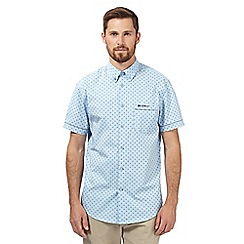 BEN SHERMAN - Blue geometric print short sleeved shirt