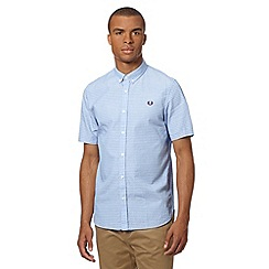 Fred Perry - Blue polka dot short sleeved shirt