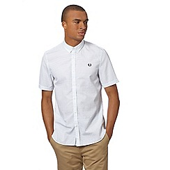 Fred Perry - White polka dot short sleeved shirt